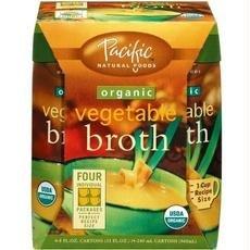 Pacific Natural Foods B31504 Pacific Natural Foods Organic Vegetable Broth -6x4 Pack