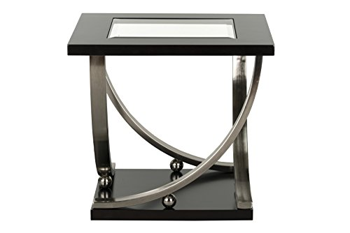 Standard Furniture Melrose End Table with Casters, Brown Review