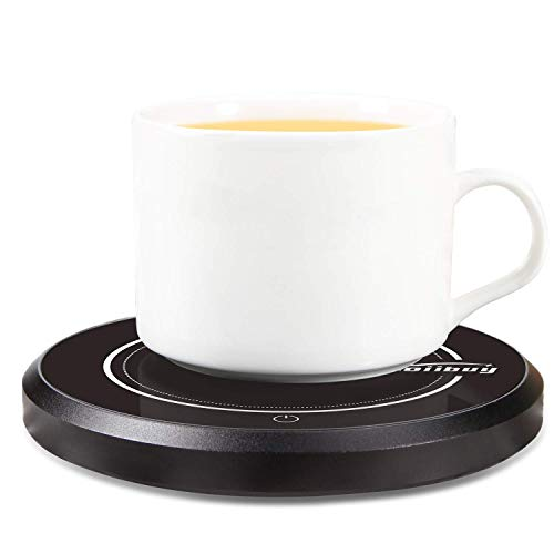 ZOIIBUY Mug Warmer 110V 15W Electric Beverage Warmer Coffee Cup Warmer Plate Up to 60℃ for Tea,Water,Cocoa,Soup or Milk, 8 Hour Auto Shut Off