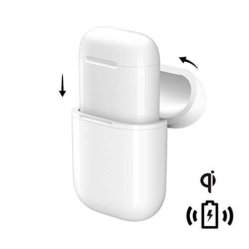 Price comparison product image NeotrixQI Wireless Charging Protective Case Cover Compatible for Apple AirPods and Any Qi Wireless Charger - White