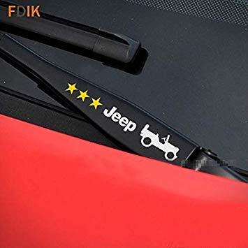 Sellify 2pcs motor de limpiaparabrisas HoodWindshield la etiqueta engomada para Jeep Wrangler Patriota Grand Cherokee Renegade