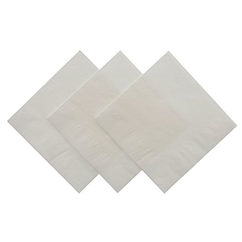 Royal White Beverage Napkin, Package of 200 ()