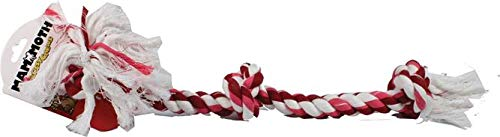 Rope Floss - Flossy Chews Cottonblend Color 3-Knot Rope Tug, Large, 25-Inch, Assorted Colors