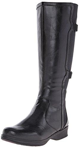 LifeStride Women's Venture Engineer Boot, Black, 7 W US