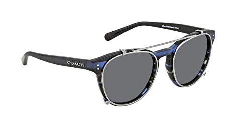 COACH Women's 0HC8216 Blue Glitter Varsity Stripe One Size (Coach Blue Sunglasses)
