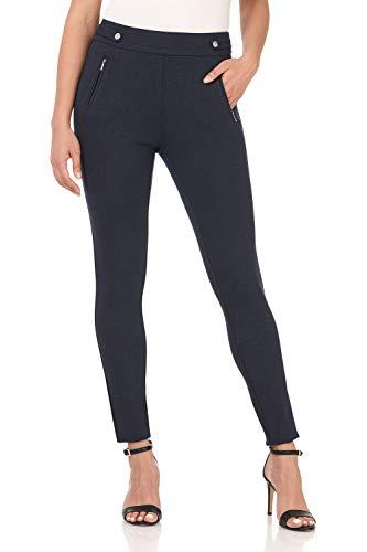 Zipper Leggings Pants - Rekucci Women's Secret Figure Pull-On Knit Skinny Pant (12,Indigo)