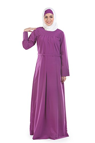 Momin Libas Plum Color Long Abaya & Burkha Dress
