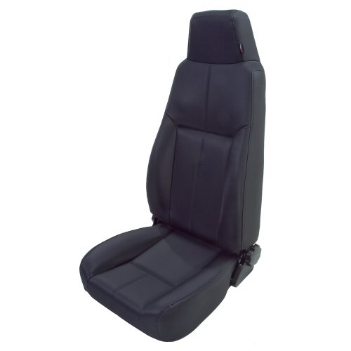 Rugged Ridge 13403.15 Factory Style Black Front Replacement Denim Seat with Recliner