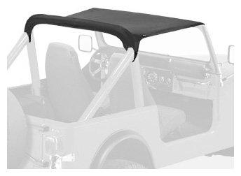 Bestop 52518-15 Strapless Bikini Black Denim Top for 1980-1986 CJ-7 - Jeep Cj Rear Seat