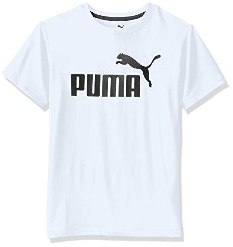 PUMA Big Boys' No.1 Logo Tee, PUMA White, 10-12 (Medium)