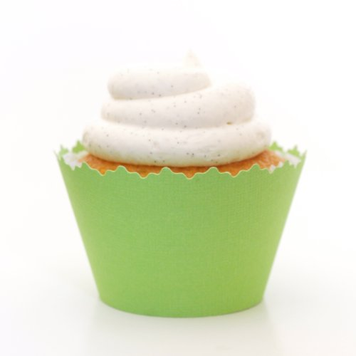 Cupcake Wrappers Solid Colors Adjustable - Set of 12 (Kiwi Green)