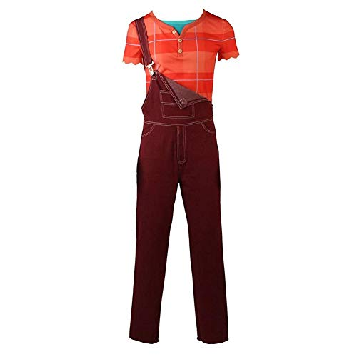 Ralph Breaks Costume Wreck It Ralph Halloween Cosplay Overall Shirt Full Set Suit (XL) -