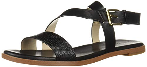 Cole Haan Women's FINDRA Strappy Sandal II Flat, Black, 7 B US