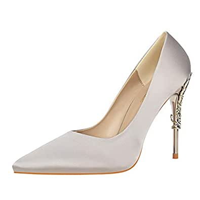 BalaMasa Womens APL12204 Low-Cut Uppers Huarache Pointed-Toe Beige Pu Heeled Sandals - 2.5 UK (Lable:34)