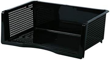 Kann überlagert Datei-Rack-Lagerkorb Büro (Rack) Breite Version hochschwarz