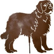 Haute Steel St. Bernard Metal Dog Stake