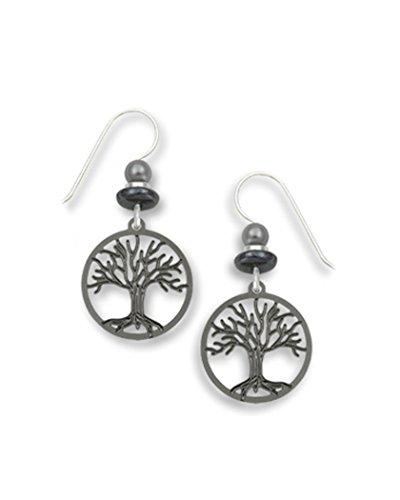 Hematite Bear - Tree of Life Hematite Earrings Made in USA by Sienna Sky si1520