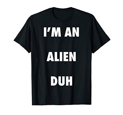 Easy Halloween Alien Costume Shirt for Men Women Kids ()