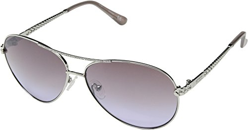 (GUESS Women's Gu7470-s Aviator Sunglasses, shiny light nickeltin & gradient, 60 mm)