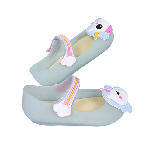 Toddler Girls Mary Jane Flat Jelly Shoes White Dots Kids Sandals Comes with 1 Pair of Bows Tie