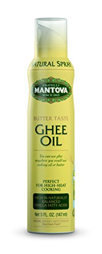 Ghee Butter Spray High in naturally balanced omega fatty acids, with olive oil and avocado oil, 5 oz (Pack of 2) by Mantova