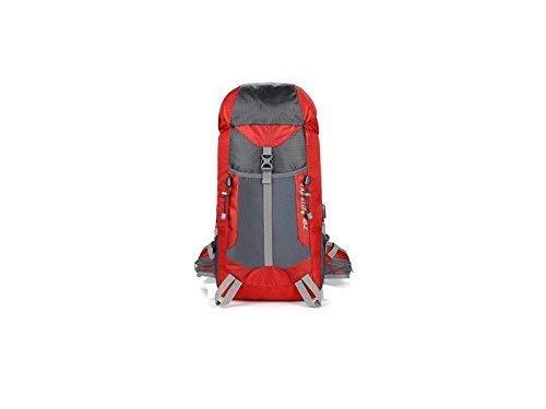 Borse all' aperto, per esterni e interni unisex sport all' aperto Borsa zaino in nylon impermeabile alpinismo USB di ricarica da viaggio zaino (rosso)