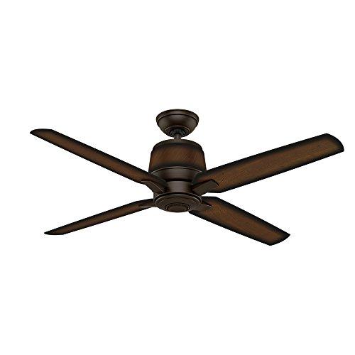Casablanca Indoor Outdoor Ceiling Fan, with wall control – Aris 54 inch, Cocoa, 59124