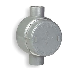 Killark GECCT-3 C Type Outlet Body, Copper Free Aluminum, 1'' Hub, 19 cu. in, Gray