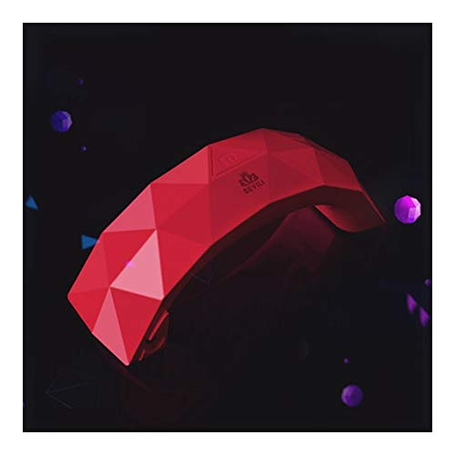 寄稿者製油所雇用LittleCat ミニLEDレインボーライトセラピーランプジェルネイルポリッシュネイルズネイルドライヤーの熱ランプライト療法機械 (色 : 赤)