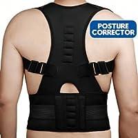 BFIT USA Unisex Magnetic Fully Adjustable Support Back Brace Posture Corrector, L/XL (Black)