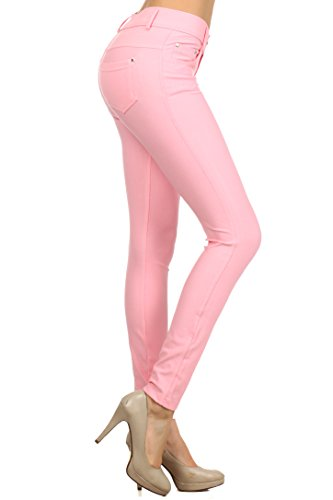 596432bbda9d3 ICONOFLASH Women s Stretch Jeggings - Slimming Cotton Pull On Jean Like  Leggings With Plus Size Options