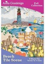 Beach Scene Tile (Anita Goodesign ~ Beach Tile Scenes ~ Full Collection ~ Embroidery Designs by Anita Goodesign)