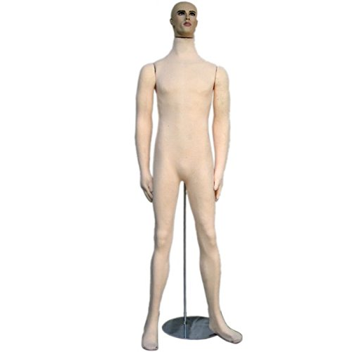 Soft Flexible Bendable Male Mannequin with Realistic Head -