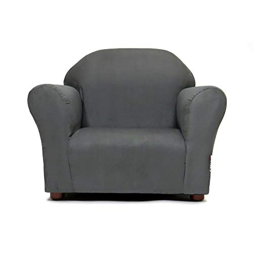 Keet Roundy Childrens Chair Microsuede, Charcoal