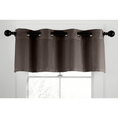 Veratex Contemporary Style Luxury 100% Linen Construction Made in the USA Multi Room Grommet Window Valance, Brown