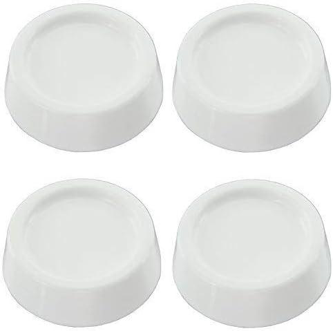 color blanco antideslizantes Pack de 4 almohadillas de goma antivibraci/ón universales para todas las marcas de lavadora