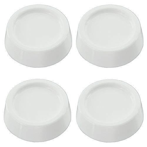 blanc antid/érapant Lot de 4 patins universels anti-vibrations en caoutchouc pour toutes les marques de machine /à laver 64 mm x 57 mm x 45 mm.