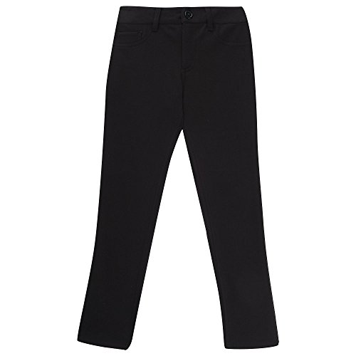 French Toast Big Girls' Skinny 5 Pocket Knit Pant, Black, 12 by French Toast