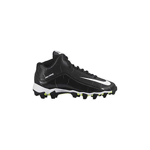 Nike Boy's Alpha Shark 2 3/4 Wide Football Cleat Black/Anthracite/White Size 6 Wide US (White Nike Cleats Football)