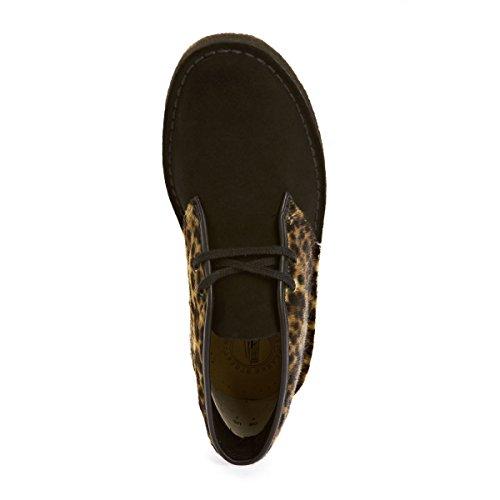 Desert Clarks Originals-Botas, diseño de piel de leopardo