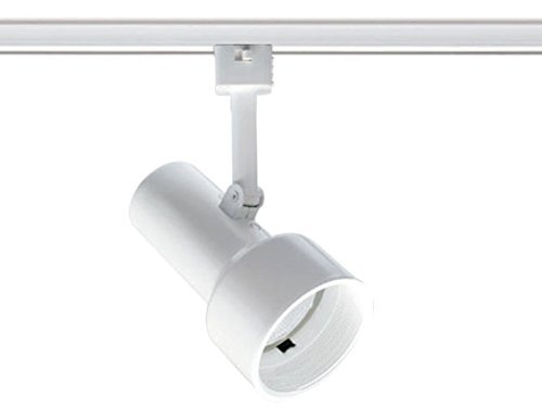 Juno Track Lighting T303W-WH (T303 WHB WH) Step Cylinder - Line Voltage 50W R20, White Baffle, White Color