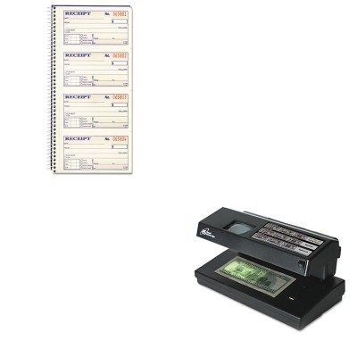 KITABFSC1152RSIRCD2000 - Value Kit - Royal Sovereign Portable 4-Way Counterfeit Detector (RSIRCD2000) and CARDINAL BRANDS INC. Two-Part Rent Receipt Book (ABFSC1152)