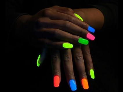 Smalto unghie che si illumina al buio fluorescente neon colore arancio  Amazon.it Bellezza