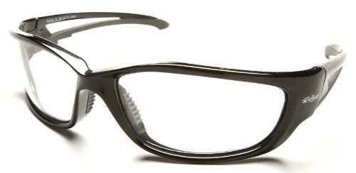 Edge Kazbek XL Safety Glasses With Black Frame And Clear Lens