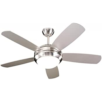 "Monte Carlo 5DI44BSD Discus II 44"" Ceiling Fan Brushed Steel"