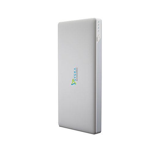 Syska Power Slice 100 10000mAH Lithium Polymer Power Bank  White