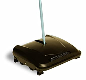 """Continental 5325, Huskee Powerrotor Floor and Carpet Sweeper, 8-3/10"""" Length x 9-1/2"""" Width x 44"""" Height, Black (Case of 10)"""