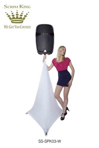 Scrim King Triple Sided Speaker Stand Scrim, White SS-SPK03W