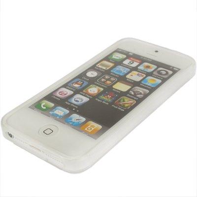 """iPhone 5 / 5S Hülle / Case aus Silikon in weiss / weiß im """"Wave-Style""""-Original nur von THESMARTGUARD-"""