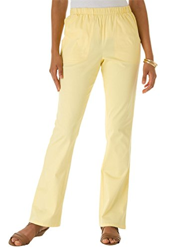 Bargain Catalog Outlet Roamans Plus Size Petite Relaxed Bootcut Stretch Jeans (Banana,22 Wp) (Womens Pant Roamans Suit)